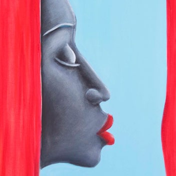 Detail of A kiss into the blue