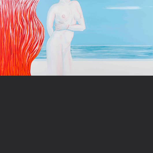 Fire, air, water, woman or selfportrait (diptych)