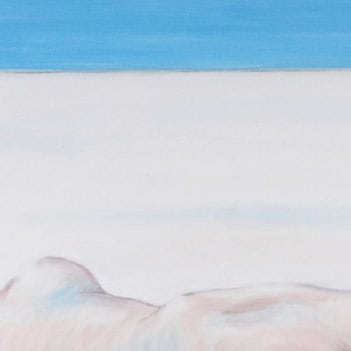 Detail of White girl in the snow